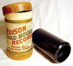 An Edison Wax Cylinder