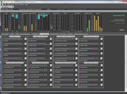Optimod-PCn 1600 control screen